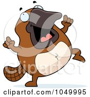 Royalty Free RF Clip Art Illustration Of A Platypus Dancing by Cory Thoman