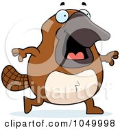 Royalty Free RF Clip Art Illustration Of A Platypus Walking by Cory Thoman