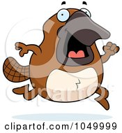 Royalty Free RF Clip Art Illustration Of A Platypus Running by Cory Thoman