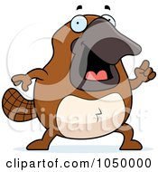 Royalty Free RF Clip Art Illustration Of A Platypus With An Idea by Cory Thoman