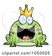 Royalty Free RF Clip Art Illustration Of A Fat Frog Prince by Cory Thoman