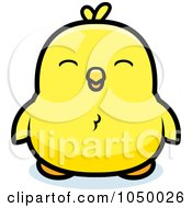Royalty Free RF Clip Art Illustration Of A Chubby Yellow Chick