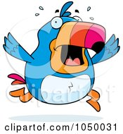 Royalty Free RF Clip Art Illustration Of A Toucan Panicking by Cory Thoman