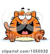 Royalty Free RF Clip Art Illustration Of A Fat Marmalade Cat