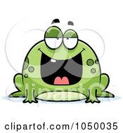 Royalty Free RF Clip Art Illustration Of A Fat Frog by Cory Thoman