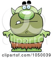 Royalty Free RF Clip Art Illustration Of A Green Goblin