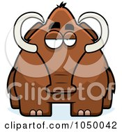Royalty Free RF Clip Art Illustration Of A Woolly Mammoth by Cory Thoman