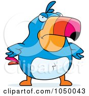 Royalty Free RF Clip Art Illustration Of A Mad Toucan by Cory Thoman