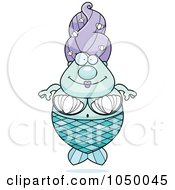 Royalty Free RF Clip Art Illustration Of A Plump Mermaid by Cory Thoman