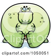 Royalty Free RF Clip Art Illustration Of A Huge Gren Ogre by Cory Thoman