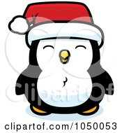 Royalty Free RF Clip Art Illustration Of A Baby Christmas Penguin