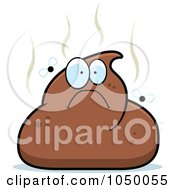 Royalty Free RF Clip Art Illustration Of A Stinky Pile Of Poop Character by Cory Thoman #COLLC1050055-0121