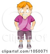 Royalty Free RF Clip Art Illustration Of A Mad Kid Tearing Up