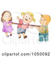 Royalty Free RF Clip Art Illustration Of A Kids Playing Limbo