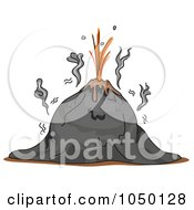 Royalty Free RF Clip Art Illustration Of A Volcano Before Eruption