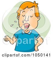 Royalty Free RF Clip Art Illustration Of A Motor Mouth Man Spitting