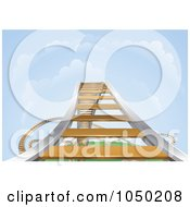 Royalty Free RF Clip Art Illustration Of A Rising Roller Coaster