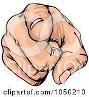 Royalty Free RF Clip Art Illustration Of A Pointing Hand