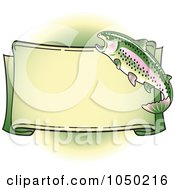 Blank Rainbow Trout Banner Over Green 1