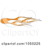 Royalty Free RF Clip Art Illustration Of Orange Pinstriped Flames by Andy Nortnik