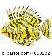 Royalty Free RF Clip Art Illustration Of A Black And Yellow Marine Fish