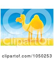 Royalty Free RF Clip Art Illustration Of A Camel In A Desert by Alex Bannykh