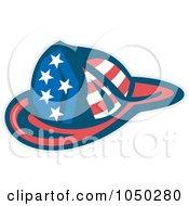 Royalty Free RF Clip Art Illustration Of An American Fireman Helmet