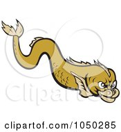 Royalty Free RF Clip Art Illustration Of A Mean Eel by patrimonio
