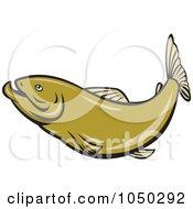 Royalty Free RF Clip Art Illustration Of A Green Herring 2
