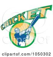 Cricket Player Logo - 8