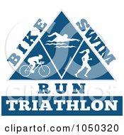 Royalty Free RF Clip Art Illustration Of A Triathlon Pyramid