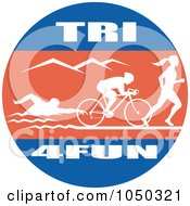Royalty Free RF Clip Art Illustration Of A Tri For Fun Circle