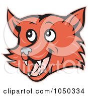 Royalty Free RF Clip Art Illustration Of A Fox Face by patrimonio
