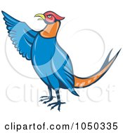 Royalty Free RF Clip Art Illustration Of A Pheasant Pointing