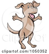 Royalty Free RF Clip Art Illustration Of A Dog Jumping