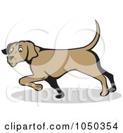 Royalty Free RF Clip Art Illustration Of A Confused Dog Pointing