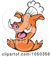 Royalty Free RF Clip Art Illustration Of A Pig Chef by patrimonio