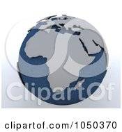 Royalty Free RF Clip Art Illustration Of A 3d Blue And Gray Africa Globe