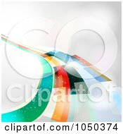 Royalty Free RF Clip Art Illustration Of An Abstract Rainbow Road On Gray Background