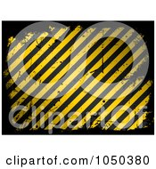 Royalty Free RF Clip Art Illustration Of A Grungy Yellow And Black Hazard Stripes Background by KJ Pargeter
