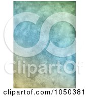 Royalty Free RF Clip Art Illustration Of A Grungy Blue And Green Textured Background