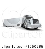Royalty Free RF Clip Art Illustration Of A 3d Semi Truck by KJ Pargeter