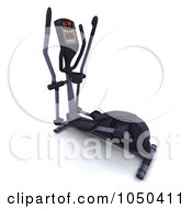 Royalty Free RF Clip Art Illustration Of A 3d Crosstrainer by KJ Pargeter