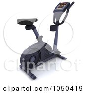 Royalty Free RF Clip Art Illustration Of A 3d Exercise Bike