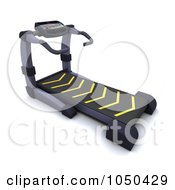 Royalty Free RF Clip Art Illustration Of A 3d Treadmill by KJ Pargeter