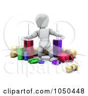 Royalty Free RF Clip Art Illustration Of A 3d White Character With Electronic Components by KJ Pargeter