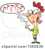 Royalty Free RF Clip Art Illustration Of A Confused Businesswoman Questioning
