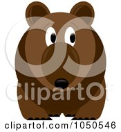 Royalty Free RF Clip Art Illustration Of A Brown Bear Looking To The Right
