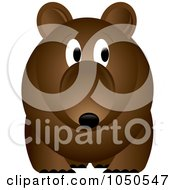 Royalty Free RF Clip Art Illustration Of A Brown Bear With A Worried Expression