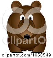 Royalty Free RF Clip Art Illustration Of A Brown Bear With An Angry Expression